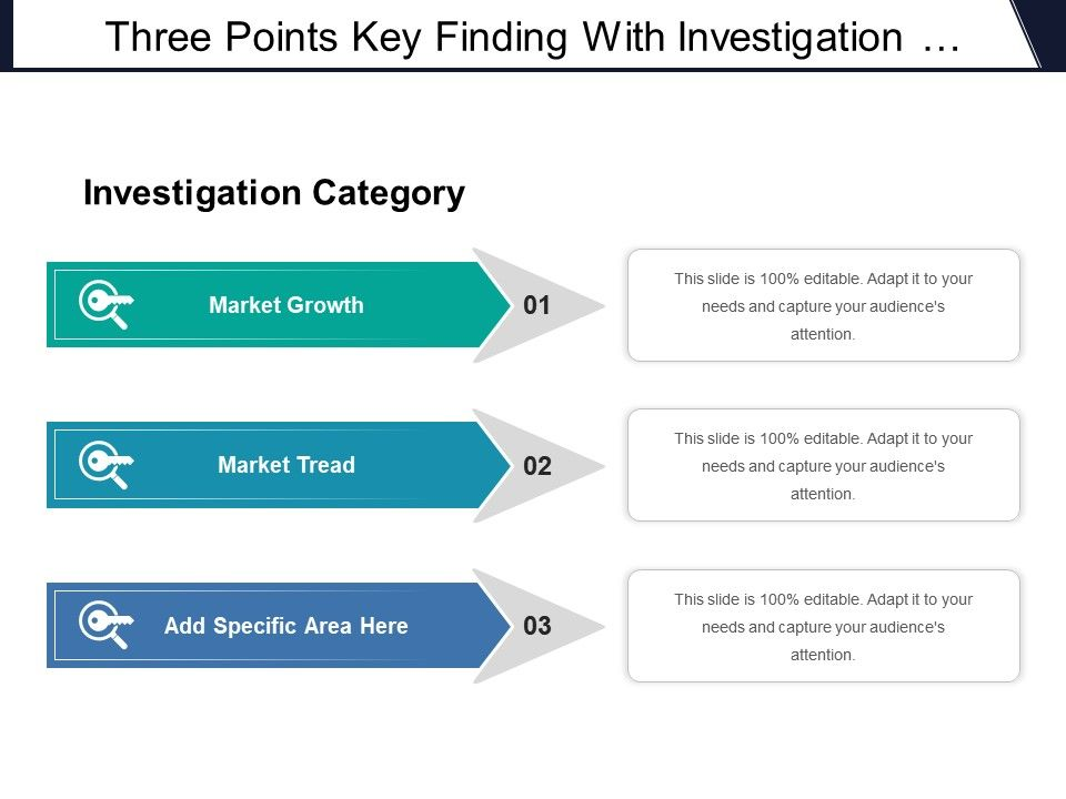 three_points_key_finding_with_investigation_category_market_growth_and_tread_Slide01