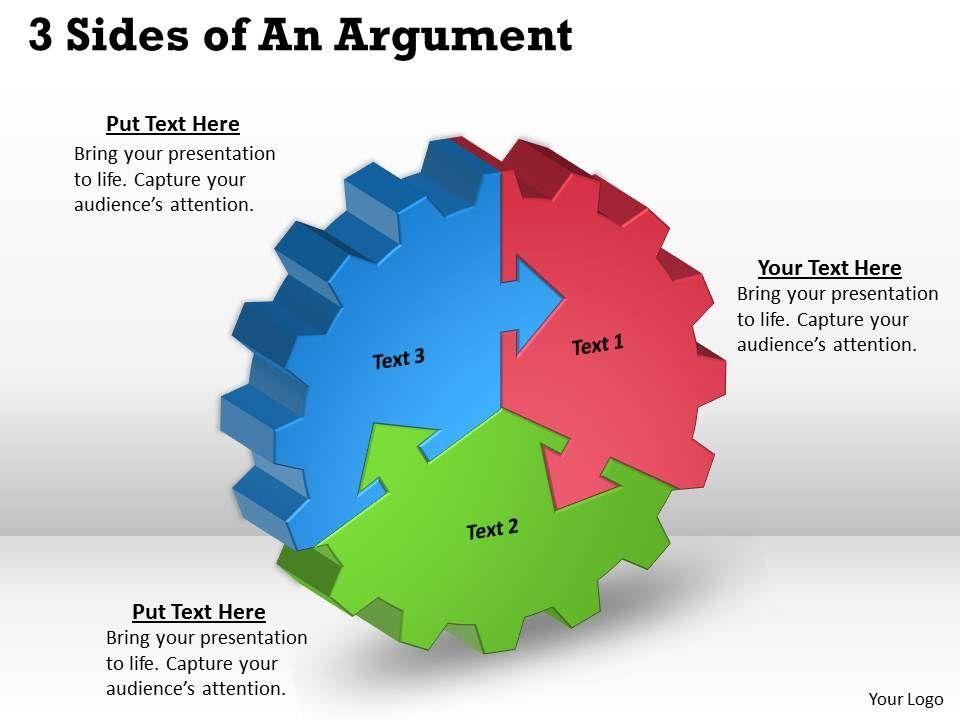 three_sides_af_an_argument_powerpoint_templates_Slide01