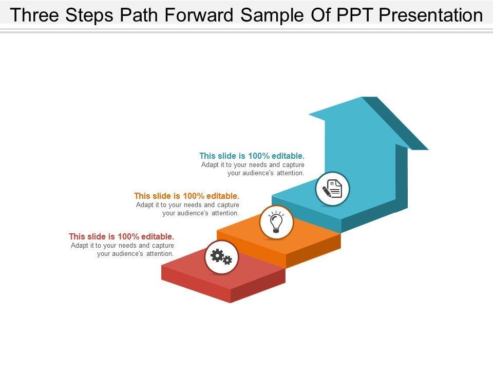 three_steps_path_forward_sample_of_ppt_presentation_Slide01