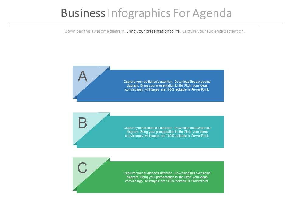 three_tags_business_infographics_for_agenda_flat_powerpoint_design_Slide01