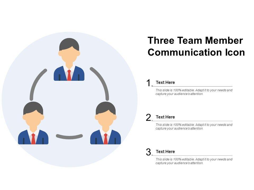 Three Team Member Communication Icon
