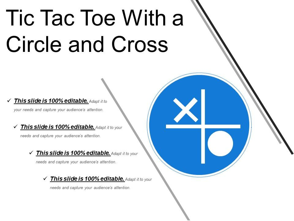Tic Tac Toe With A Circle And Cross Templates Powerpoint