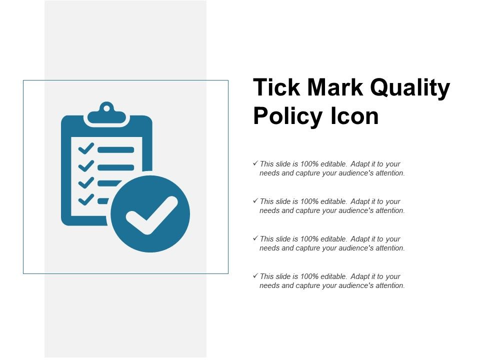 Tick Mark Quality Policy Icon