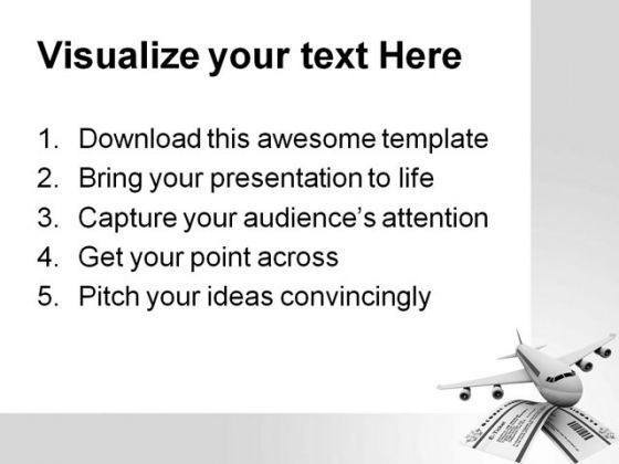 Tickets And Airplane Travel Powerpoint Templates And Powerpoint
