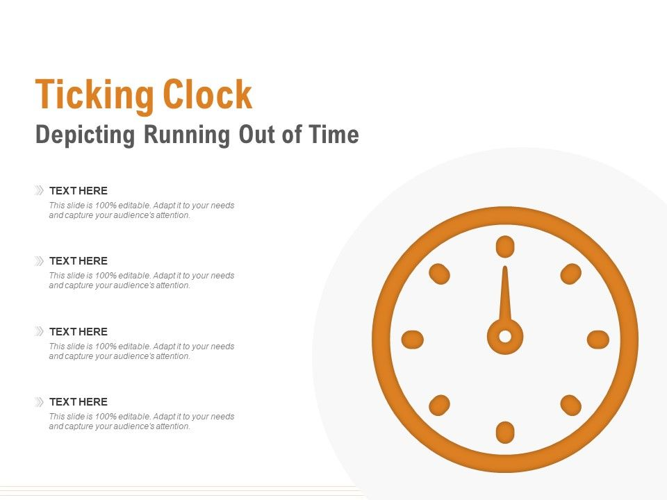 Ticking Clock Depicting Running Out Of Time