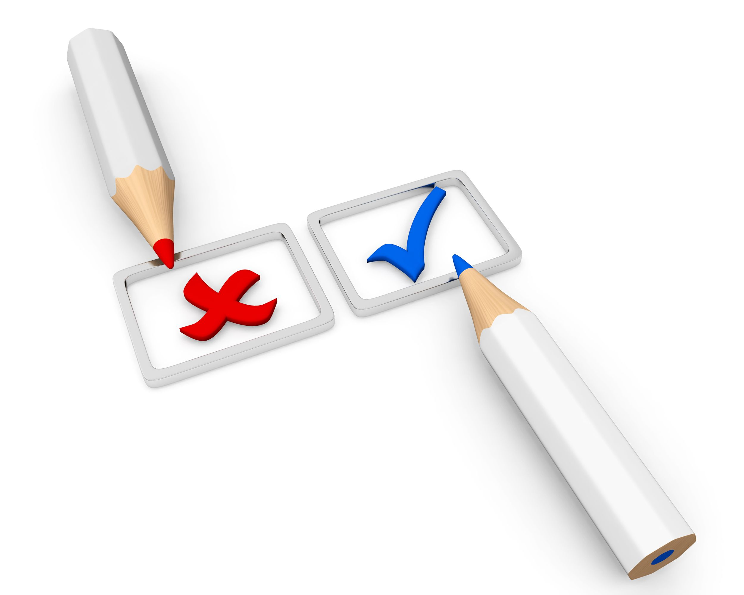 tickmark_and_cross_sign_with_two_white_pencils_on_white_background_stock_photo_Slide01