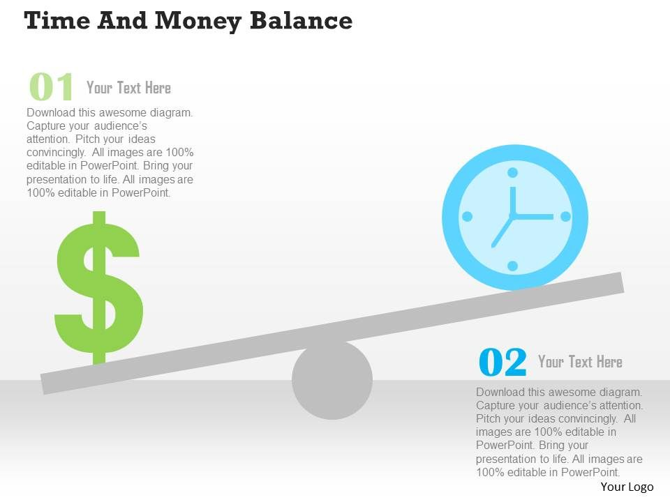 time_and_money_balance_flat_powerpoint_design_Slide01