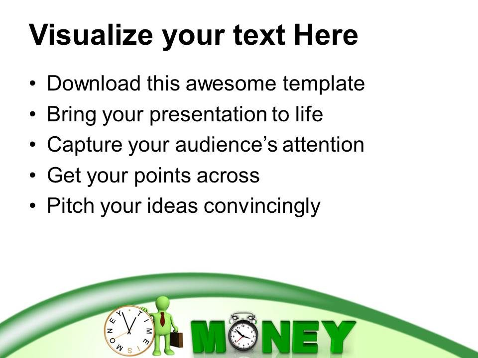 Time Is Money Economic Business Powerpoint Templates Ppt
