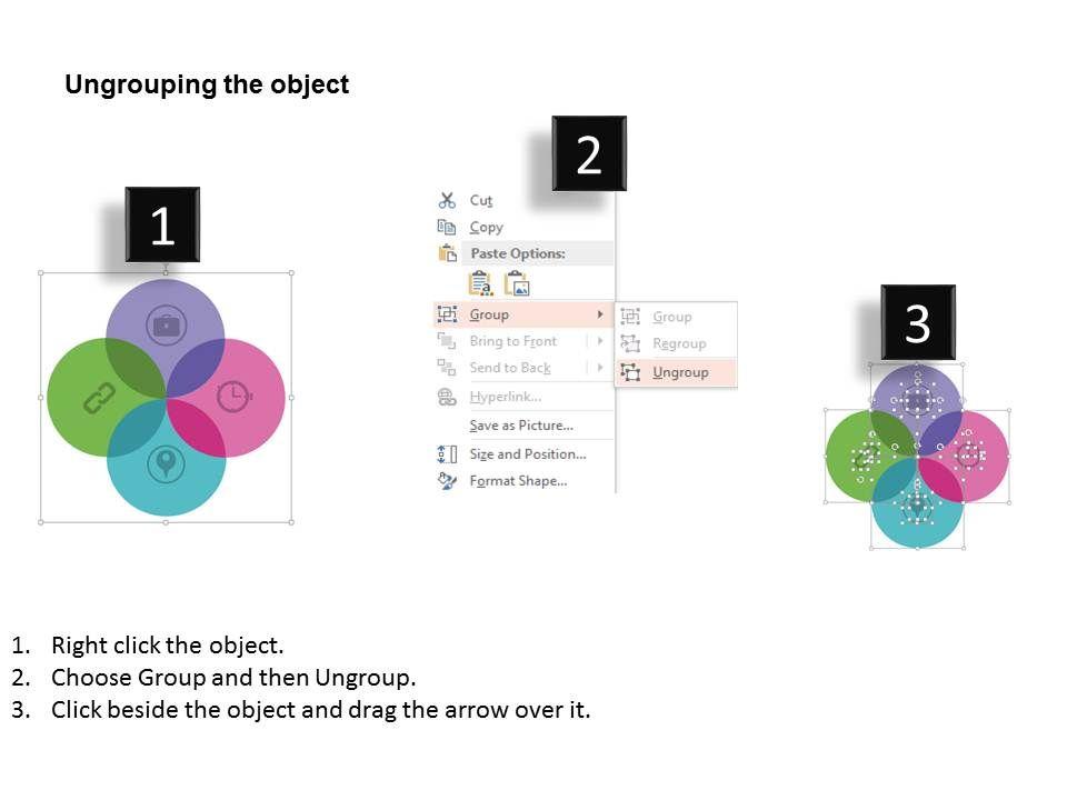 Time Management Meeting Based Venn Diagram Flat Powerpoint