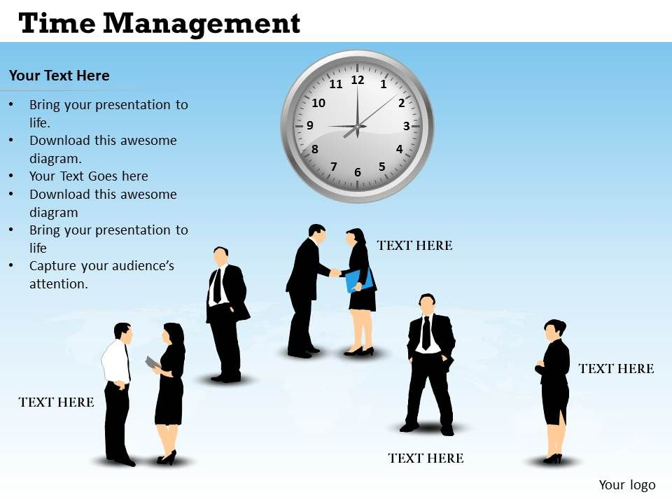 Training in management development time management powerpoint you can download this free widescreen time management ppt template with analog clocks and business toneelgroepblik Gallery