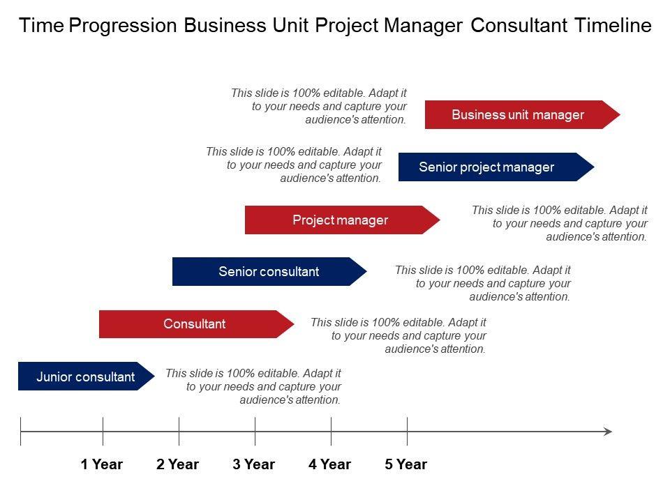 time_progression_business_unit_project_manager_consultant_timeline_Slide01