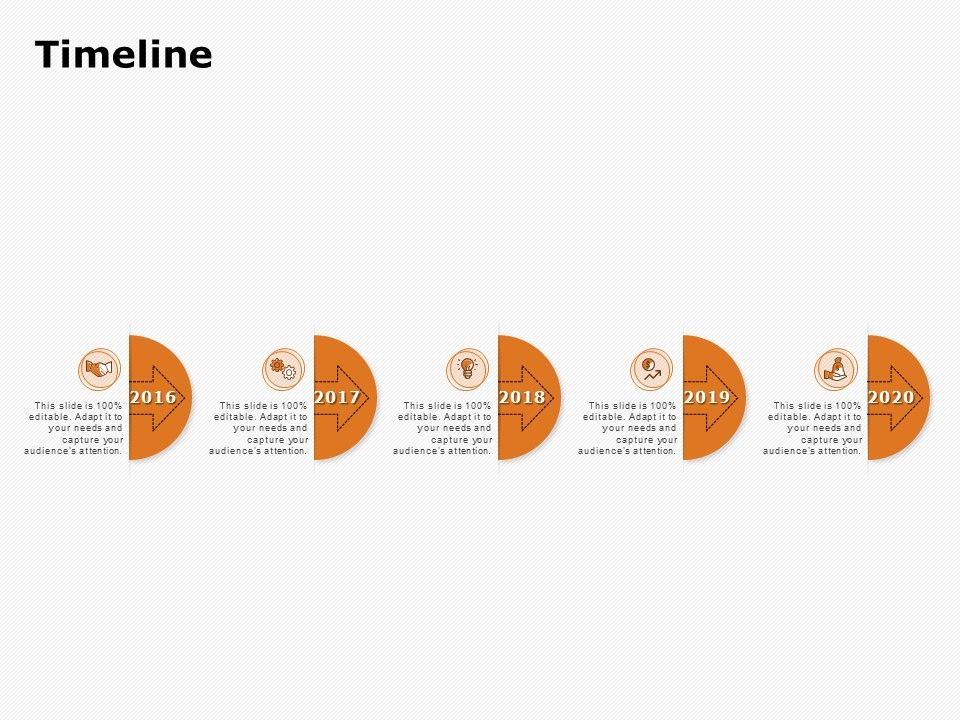 Timeline 2016 To 2020 Ppt Powerpoint Presentation Pictures Slide