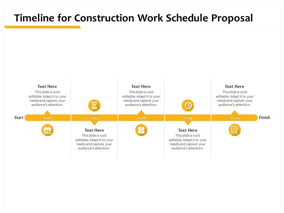 Timeline For Construction Work Schedule Proposal Ppt Powerpoint Presentation Outfit