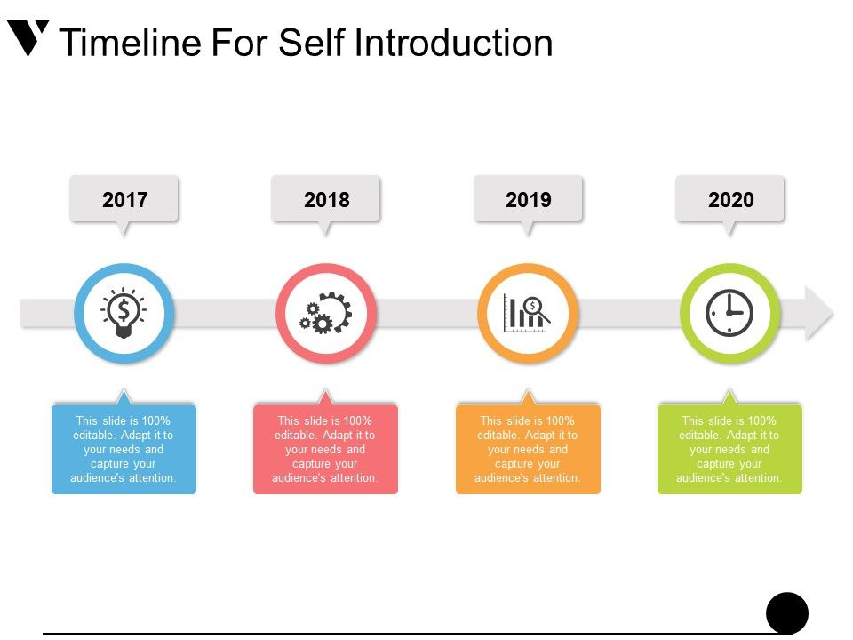 Timeline For Self Introduction Presentation Ideas