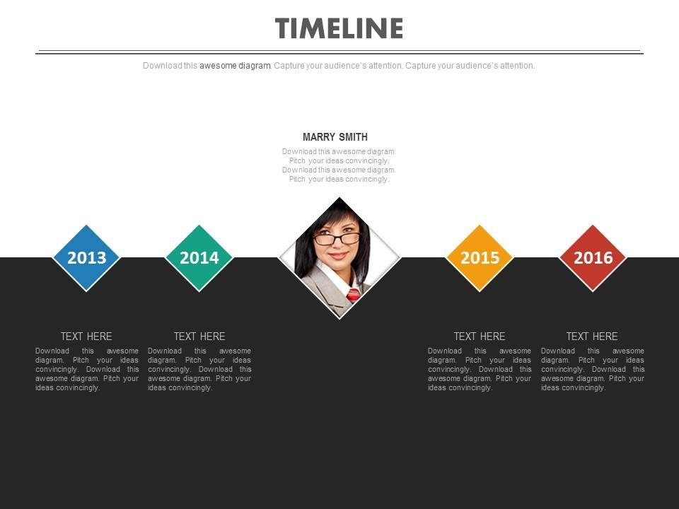 timeline_with_years_for_business_employee_profile_management_powerpoint_slides_Slide01
