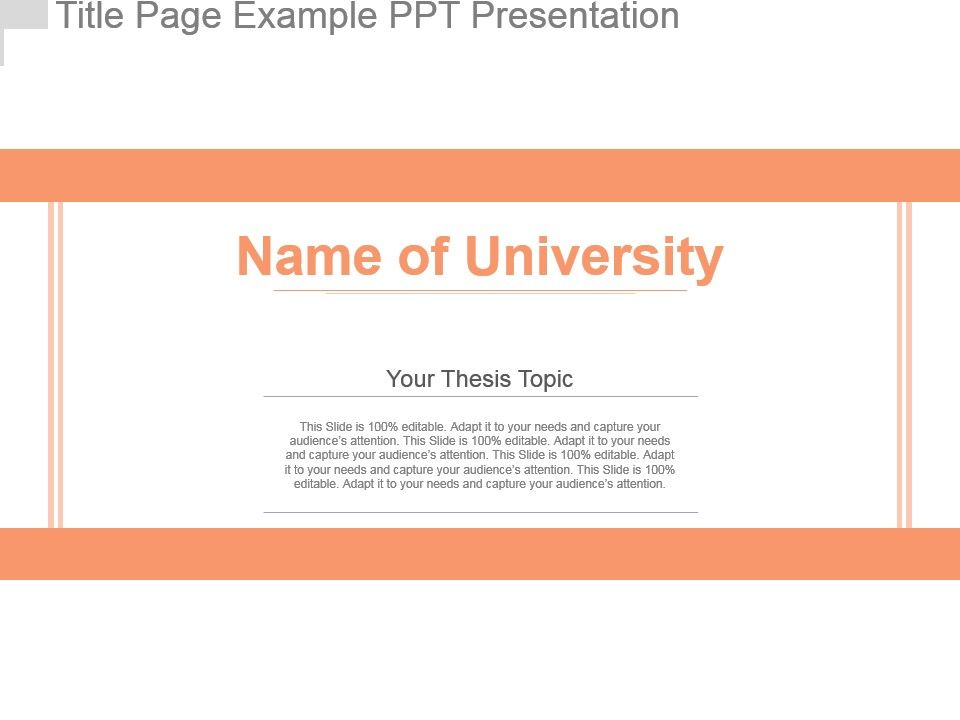 Title Page Example Ppt Presentation Powerpoint Slide