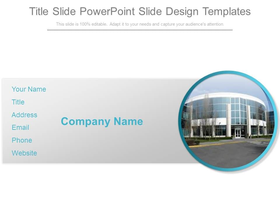 Title Slide Powerpoint Slide Design Templates | PowerPoint ...