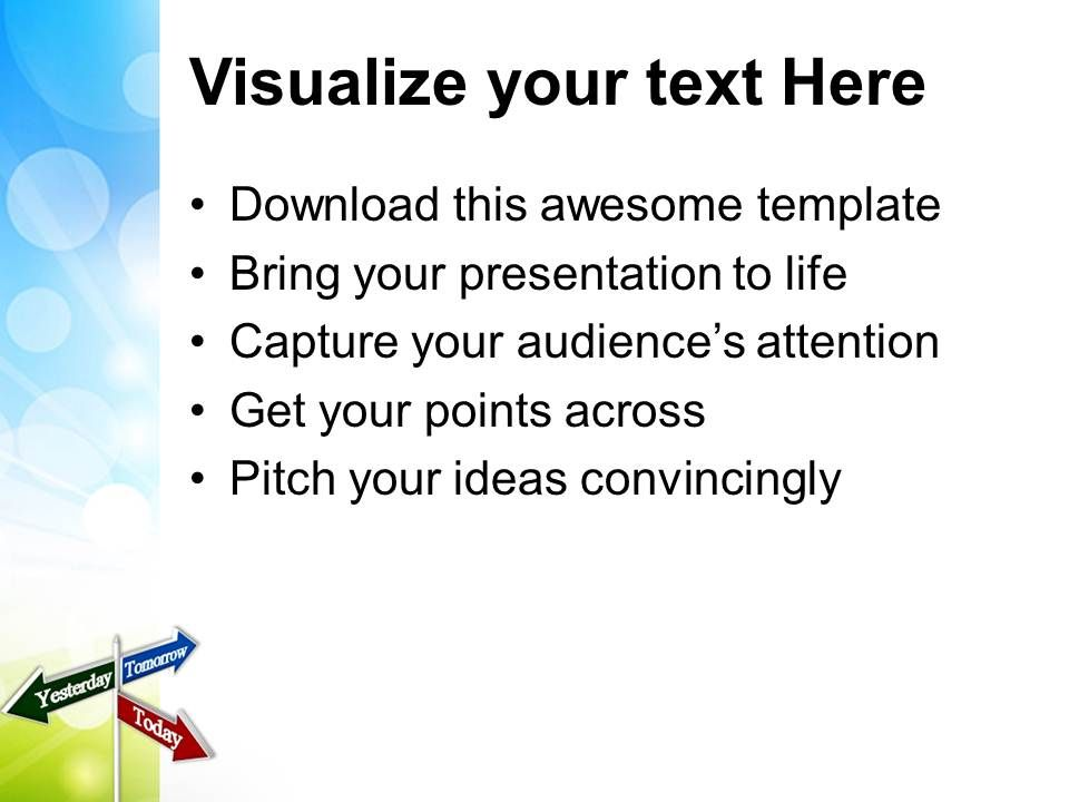 today tomorrow signpost future powerpoint templates ppt themes and