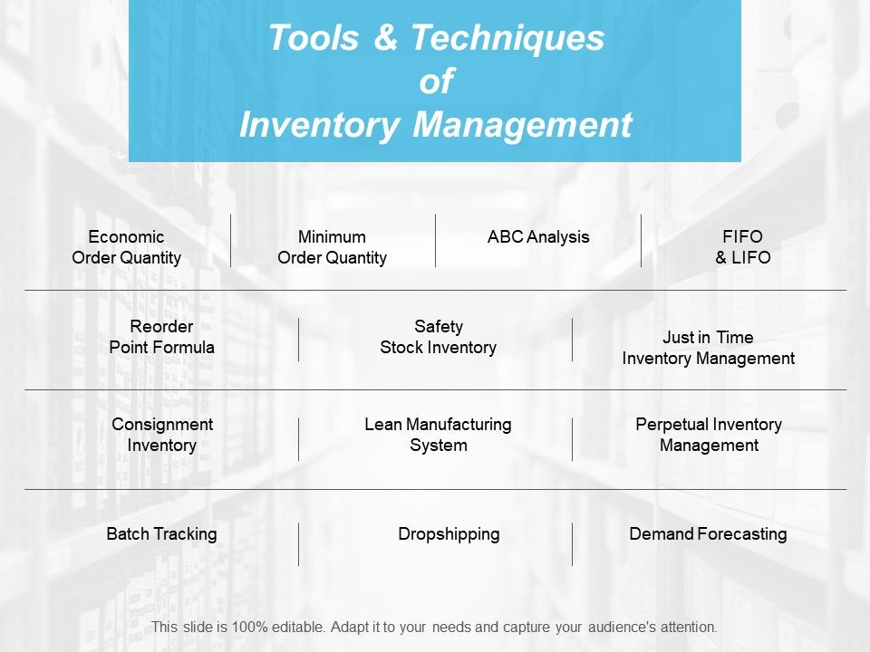 tools_and_techniques_of_inventory_management_ppt_professional_format_Slide01