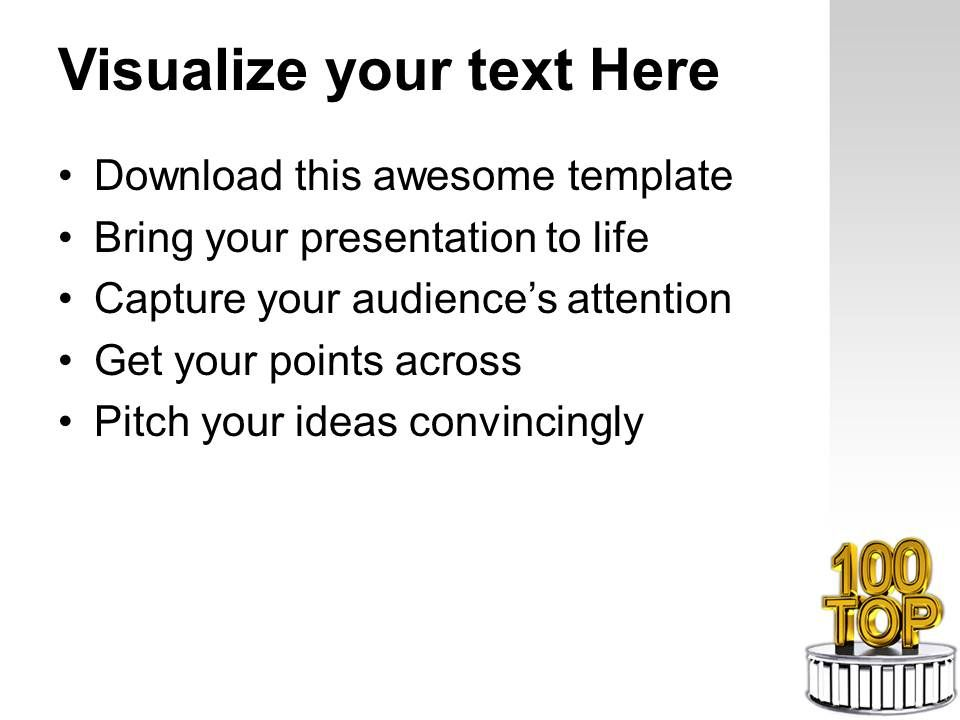 top 100 best award winning podium powerpoint templates ppt themes, Modern powerpoint