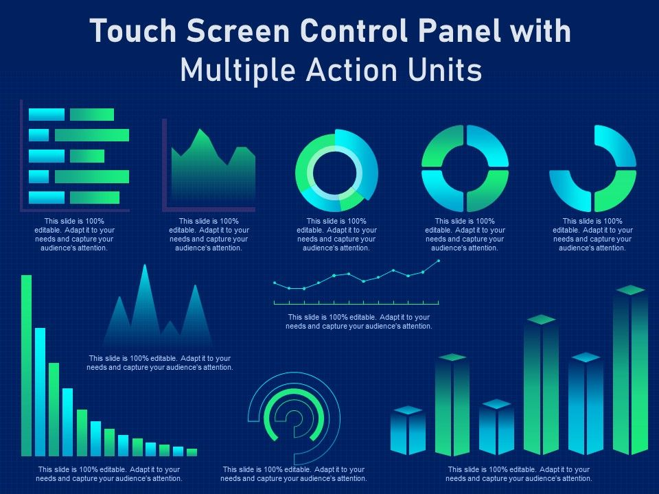 Touch Screen Control Panel With Multiple Action Units