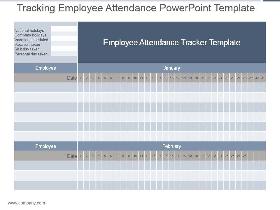tracking employee attendance powerpoint template powerpoint
