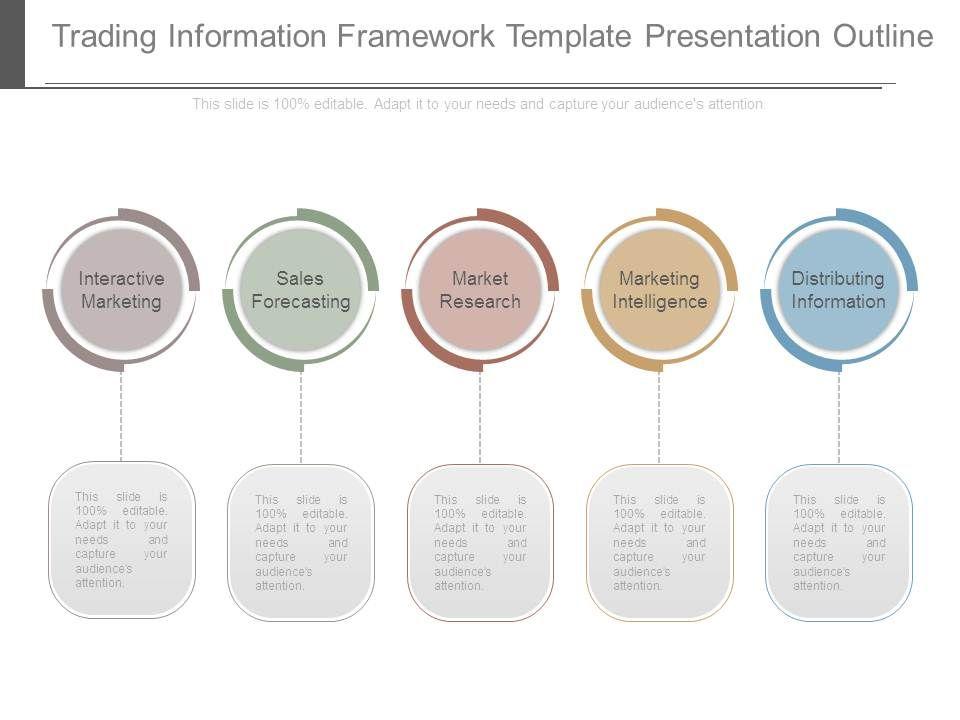trading information framework template presentation outline, Presentation templates