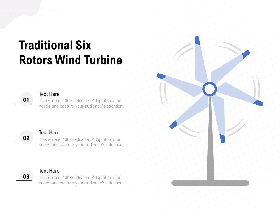Traditional Six Rotors Wind Turbine