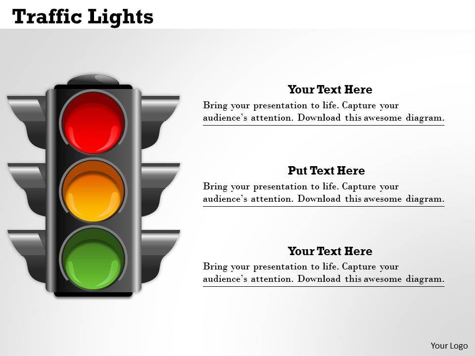 Traffic Lights Powerpoint Template Slide | Graphics Presentation ...