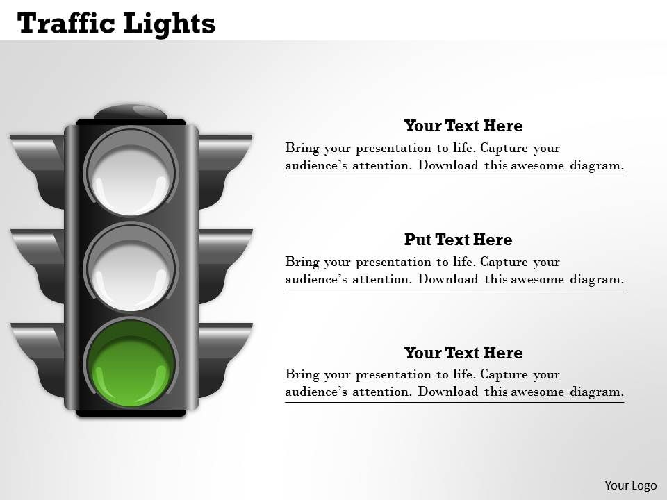 traffic lights powerpoint template slide graphics presentation