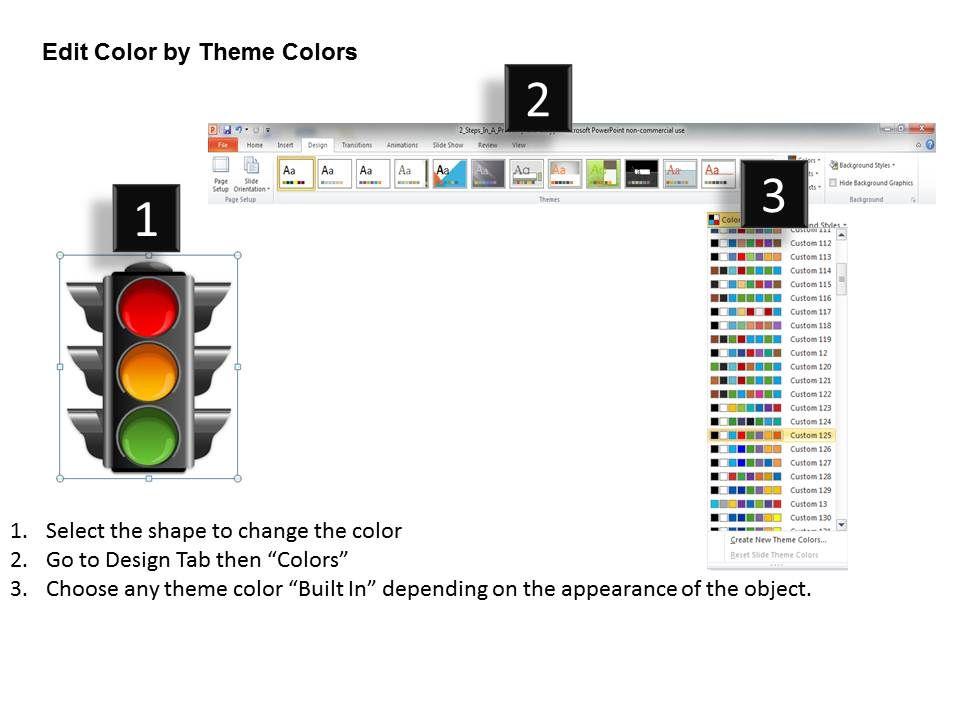 Traffic Lights Powerpoint Template Slide Graphics Presentation Background For Powerpoint Ppt Designs Slide Designs