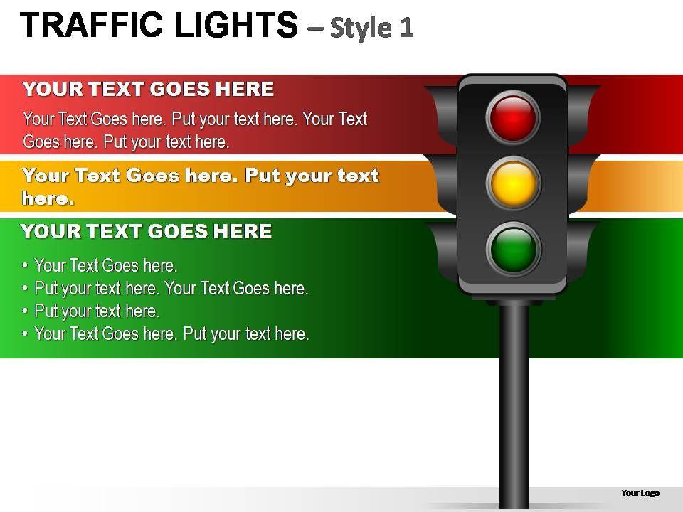 traffic lights style 1 powerpoint presentation slides powerpoint