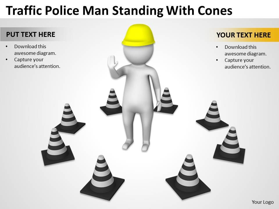traffic_police_man_standing_with_cones_ppt_graphics_icons_powerpoint_Slide01