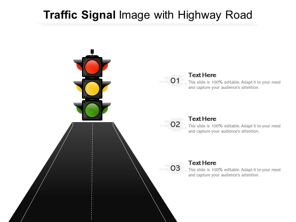 Traffic Signal Image With Highway Road