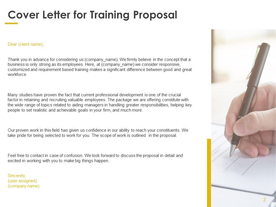 Training Proposal Template Powerpoint Presentation Slides Powerpoint Presentation Images Templates Ppt Slide Templates For Presentation