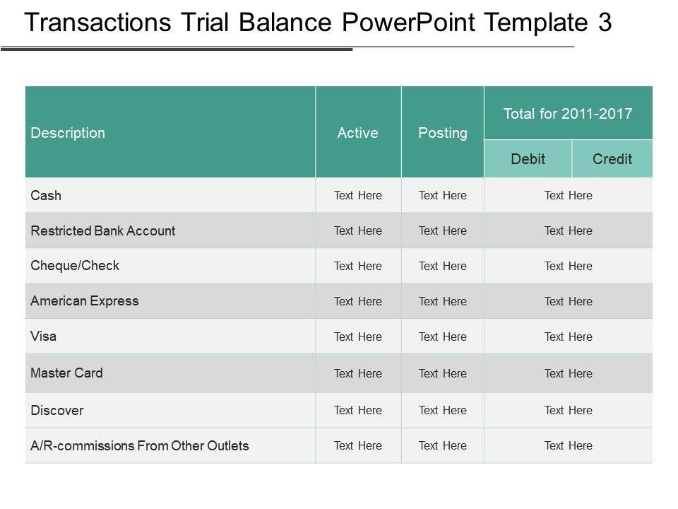 trial balance template