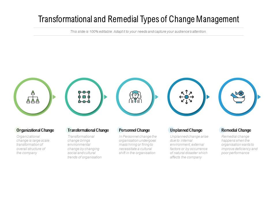 Transformational And Remedial Types Of Change Management
