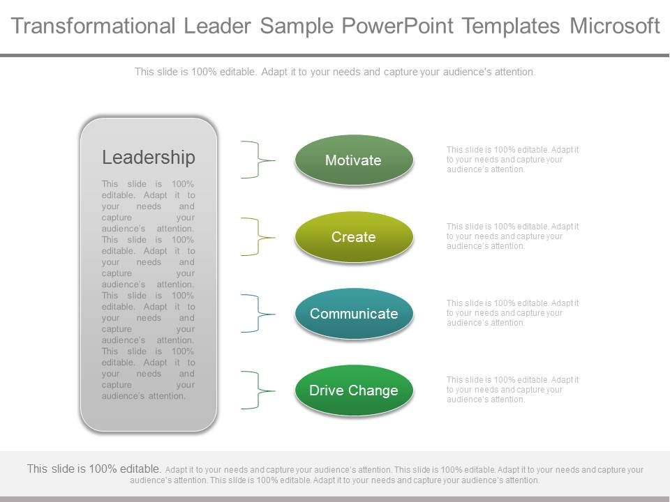 Transformational Leader Sample Powerpoint Templates