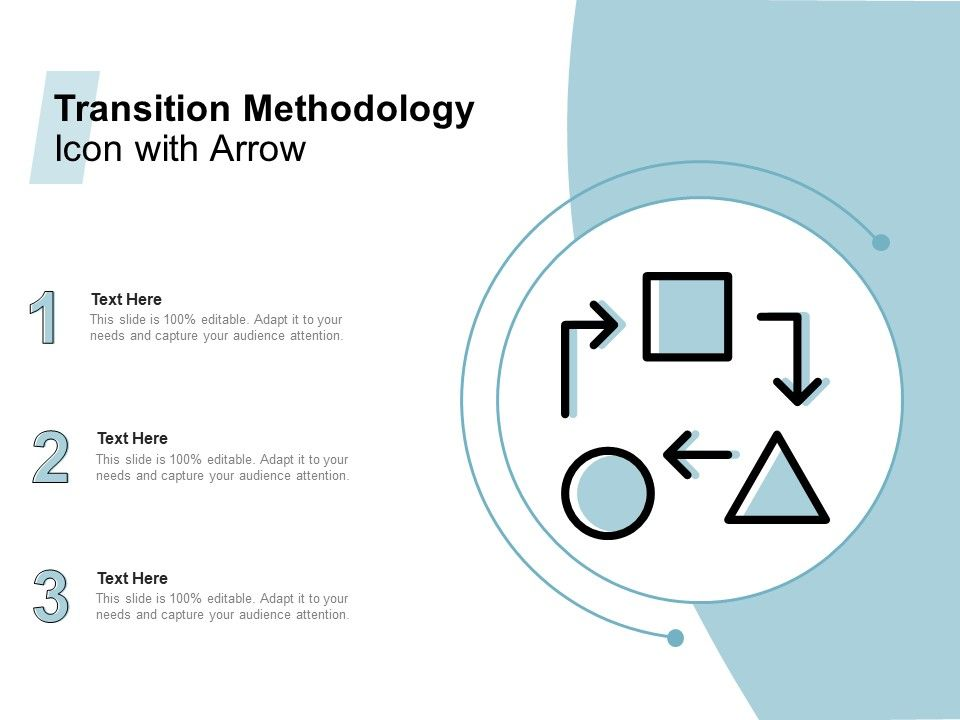 Transition Methodology Icon With Arrow