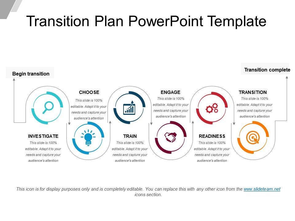 transition plan powerpoint template powerpoint shapes. Black Bedroom Furniture Sets. Home Design Ideas