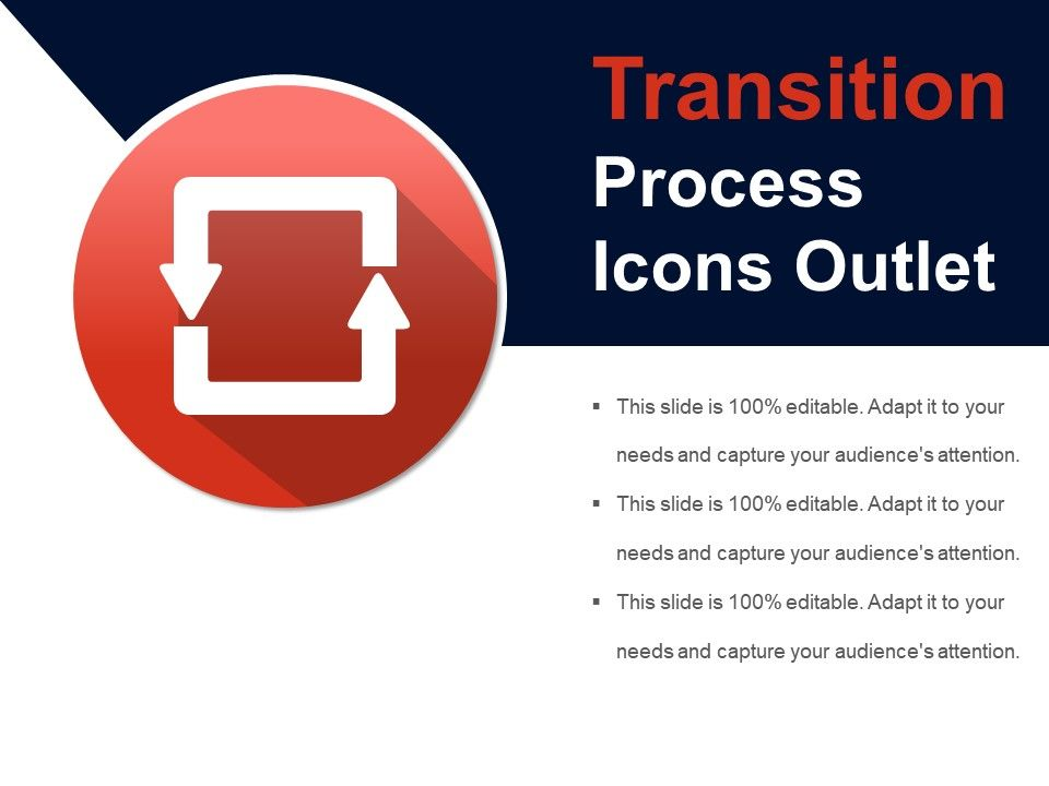 Transition process icons outlet presentation powerpoint for Slide design outlet