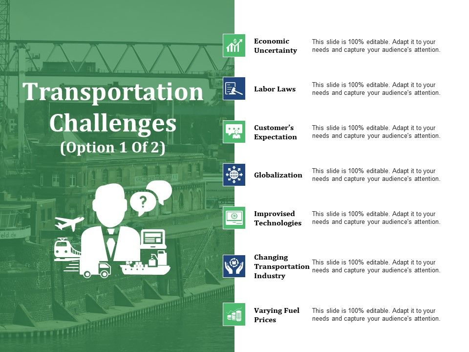 Transportation Challenges Ppt Slide Examples   PowerPoint