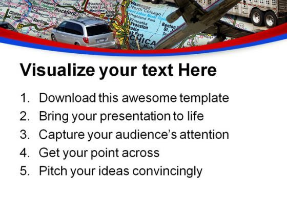 transportation design technology powerpoint templates and, Presentation