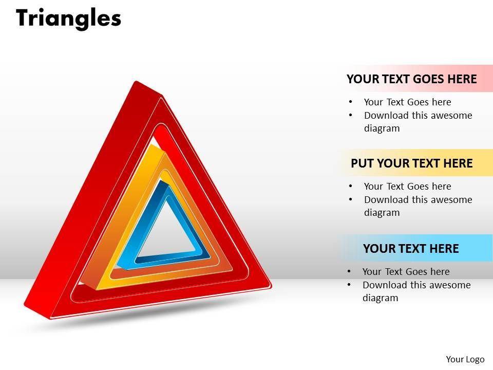 triangles template 11 powerpoint templates designs ppt slide