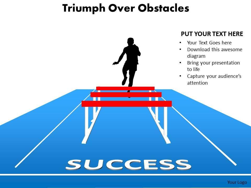 Triumph over obstacles sports man silhouette running and jumping triumphoverobstaclessportsmansilhouetterunningandjumpinghurdlespowerpointdiagramtemplates712slide01 toneelgroepblik Gallery