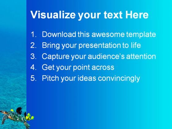 turtle animal powerpoint template 0910 | template presentation, Powerpoint templates