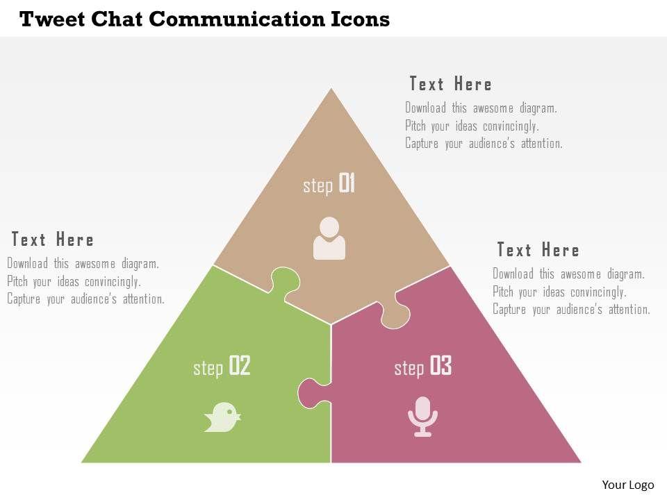 tweet_chat_communication_icons_flat_powerpoint_design_Slide01