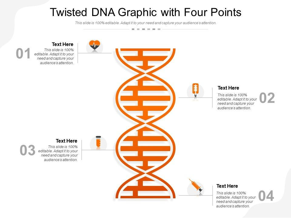 Twisted DNA Graphic With Four Points