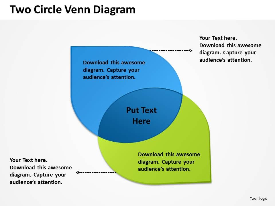 two circle venn diagram powerpoint slides presentation diagrams