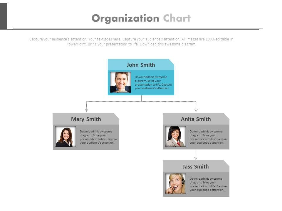 two_level_organizational_chart_for_employee_profile_powerpoint_slides_Slide01